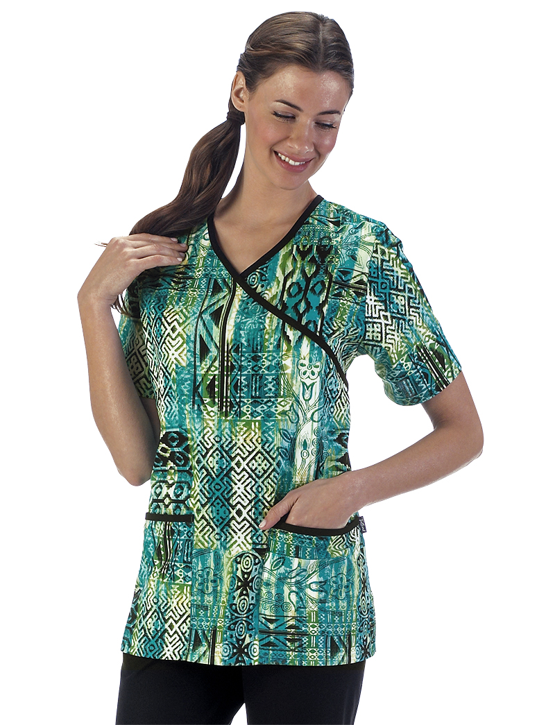 Art and Soul Cross Over Scrub Top