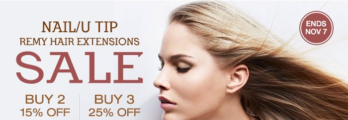 NAIL/U TIP Remy Hair Extensions SALE