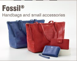 Fossil® handbags and small accessories.