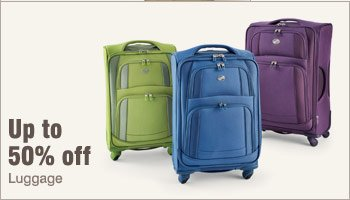 Up to 50% off luggage.