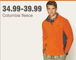 34.99-39.99 Columbia fleece.