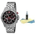 Wenger 77056 Men's Swiss Stainless Steel Chronograph Watch with 30ml Ultimate Watch Cleaning Kit