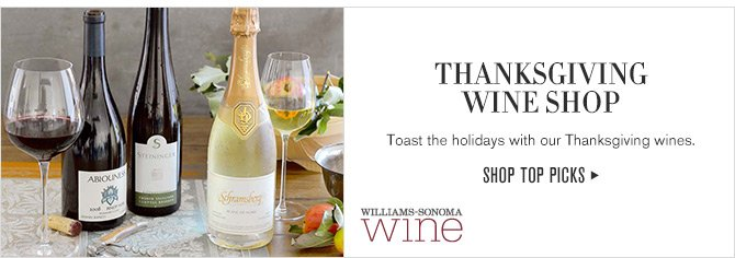 THANKSGIVING WINE SHOP - Toast the holidays with our thanksgiving wines. - SHOP TOP PICKS