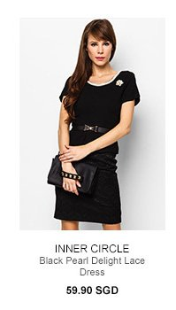 INNER CIRCLE Black Pearl Delight Lace Dress
