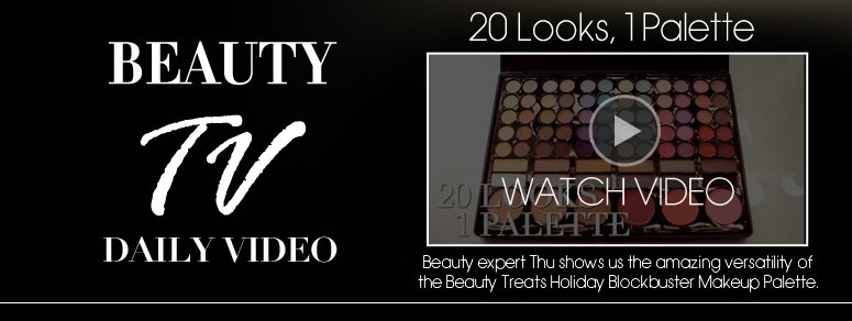 20 Looks, 1 Palette! Beauty expert Thu shows us the amazing versatility of the Beauty Treats Holiday Blockbuster Makeup Palette. Watch Video>>
