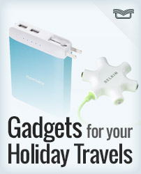 Gadgets for your Holiday Travels