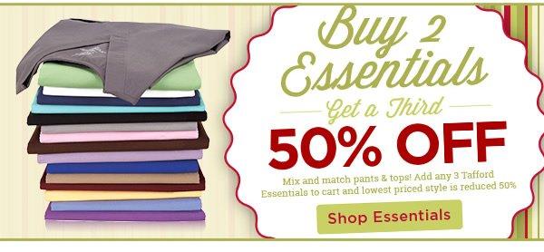 Buy 2 Essentials get a third 50% Off - Shop Essentials