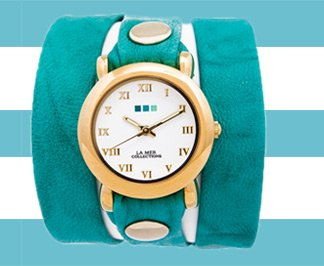 Teal Washed Wrap Watch