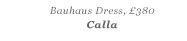 BAUHAUS DRESS, £380 Calla