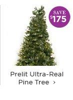 Prelit Ultra-Real Pine Tree