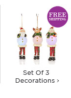 Set Of 3 Decorations