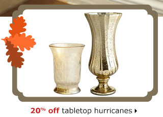 20% off tabletop hurricanes