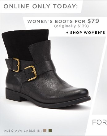 WOMEN'S BOOTS FOR $79 (originally $139) + SHOP WOMEN'S
