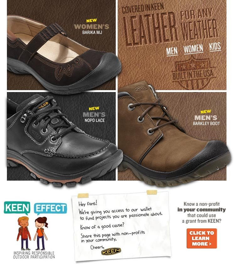 Covered in KEEN Leather for Any Weather