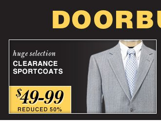 Reduced 50% - Clearance Sportcoats