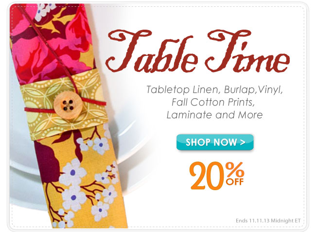Fall Table Top Sale 20% Off