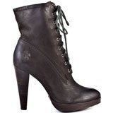 Harlow Lace Up 76615 - Charcoal