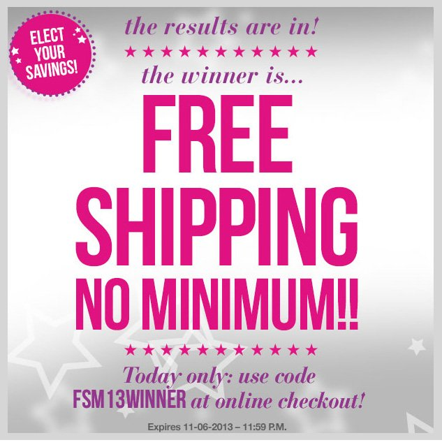 The results are in -The WINNER is- FREE SHIPPING - NO MINIMUM! TODAY ONLY! SHOP NOW!