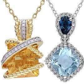 Citrine & Blue Topaz: Women's Jewelry
