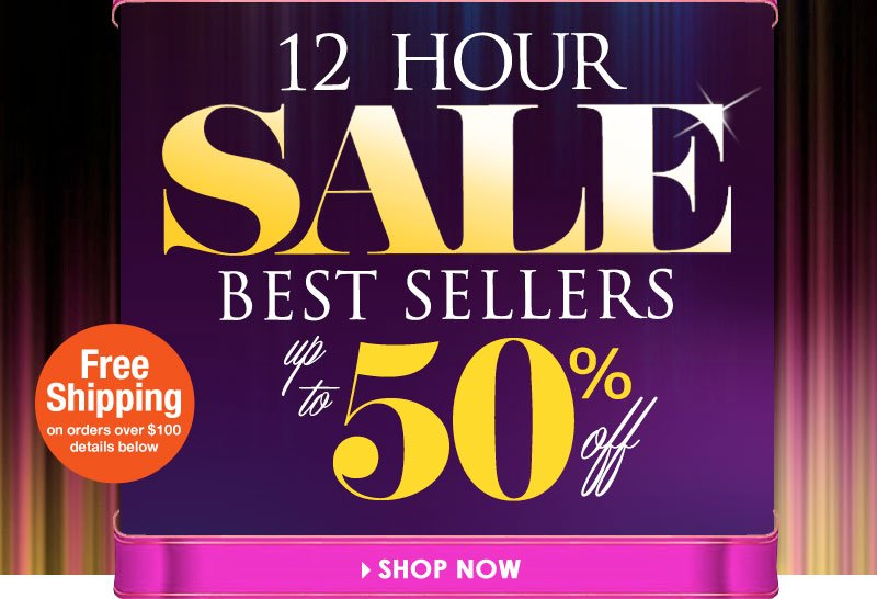 12 Hour SALE! Up to 50% OFF, Prices starting at $7