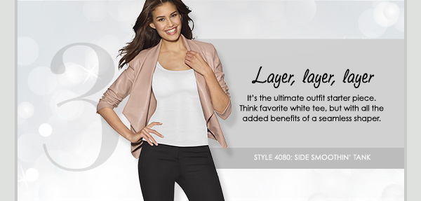 Layer, layer, layer - It's the ultimate outfit starter piece. Think favorite white tee, but with all the added benefits of a seamless shaper.