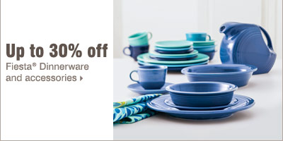 Up to 30% off Fiesta® Dinnerware and accessories.