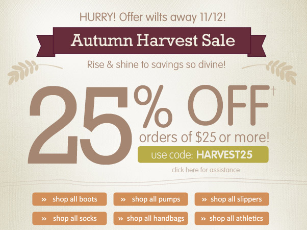 25% Off $25+ - Happy Harvest!