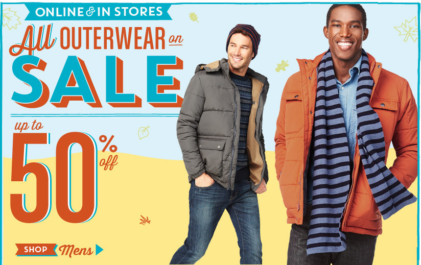 ONLINE & IN STORES | All OUTERWEAR on SALE | up to 50% off | SHOP Mens