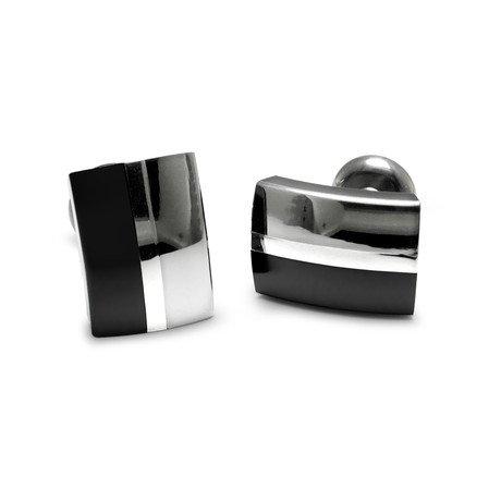 Tuxedo Cufflinks // Black Titanium & Sterling Silver