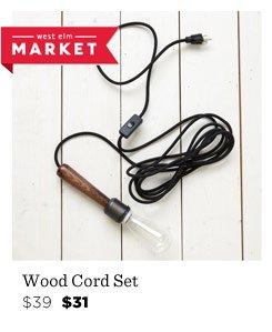Wood Cord Set