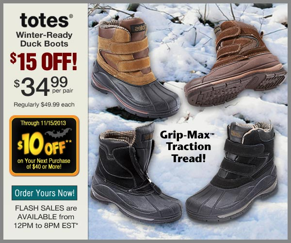$15 OFF Duck Boots