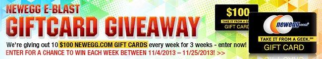 newegg e-blast giftcard giveaway.