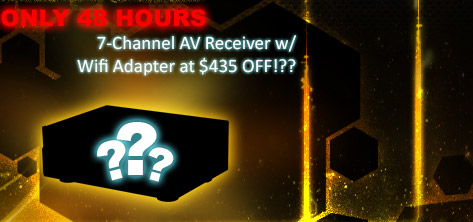 only 48 hours - 7channel av receiver w/ wifi adapter at 435usd off!??
