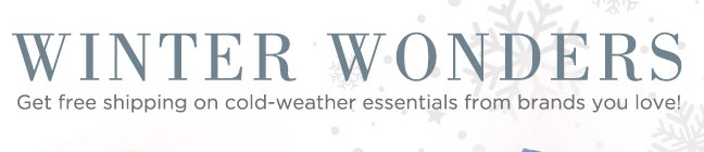 Shop Winter Wonders
