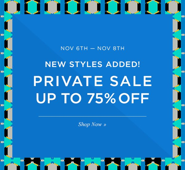LAST DAY. PRIVATE SALE UP TO 75% OFF. Shop Now.