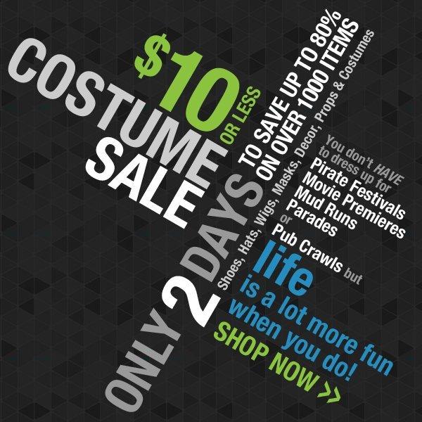 $10 Costume Sale