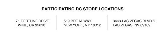Participating DC Store Locations