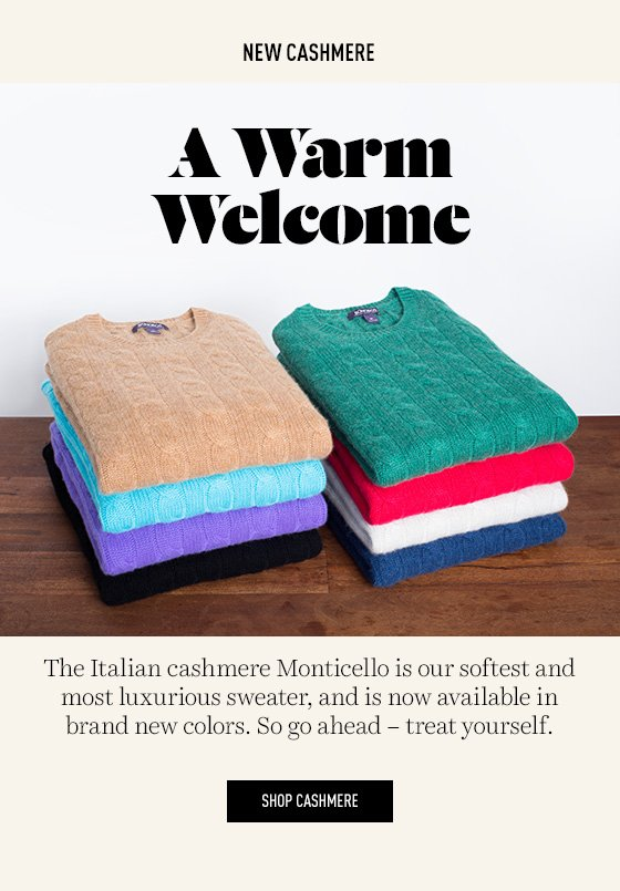 New Cashmere Sweaters