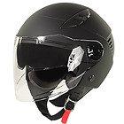 Xelement ST-559 Flat Black Open Face Helmet