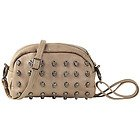 Womens Small Taupe Skull Studded Bag