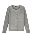 RIBBED CARDIGAN IN WOOL AND CASHMERE