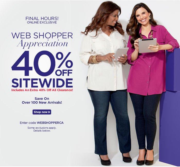 Web Shopper Appreciation! 40% off site wide!