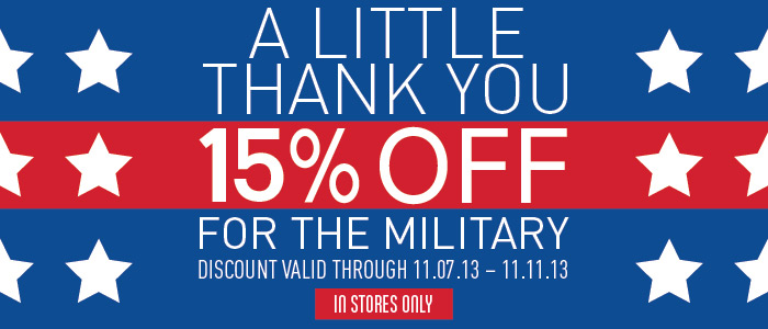 Military 15% Off