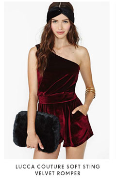 Lucca Couture Soft Sting Velvet Romper