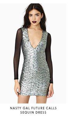 Nasty Gal Future Calls Sequin Dress
