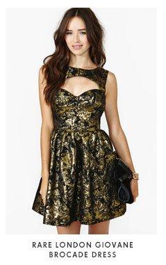Rare London Giovane Brocade Dress