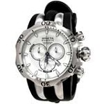 Invicta 10827 Men's Reserve Venom Silver Dial Black Rubber Strap Chronograph Watch