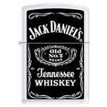 Zippo 3690 Classic Jack Daniels Old No. 7 Tennessee Whiskey White Matte Finish Windproof Pocket Lighter