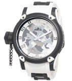 Invicta 1195 Men's Swiss Made Limited Edition Quinotaur White Russian Diver Quartz Watch