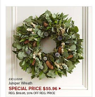 EXCLUSIVE - Juniper Wreath - SPECIAL PRICE $55.96 - REG. $69.95, 20% OFF REG. PRICE